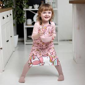 Фартух дитячий повнокольоровий Єдиноріг