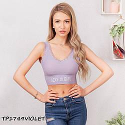 Топ жіночий бузковий Sexy Girl TP1749violet