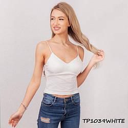 Жіночий білий топік TP1309white | 1 шт.