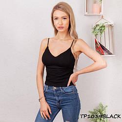 Жіночий топік чорний TP1309black | 1 шт.