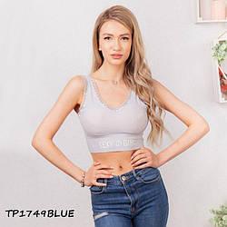 Топ жіночий Sexy Girl TP1749blue | 1 шт.