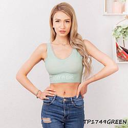 Топ жіночий Sexy Girl TP1749green | 1 шт.