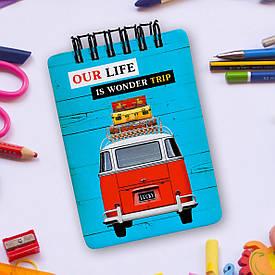Блокнот на пружині Baby, A7 Our life is wonder trip