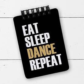 Блокнот на пружині Baby, A7 Eat sleep dance repeat