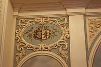 Роспись по стене с элементами лепки