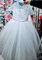 Плаття біле на ріст 128-134 см Квіточка