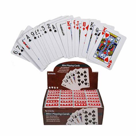 Мини карты игральные Покер, 6х4 см, фото 2