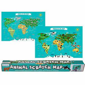 Скретч-карта «Animal scratch map» 88x52 см