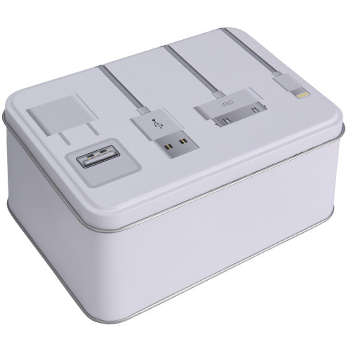 Коробка металлическая Apple, 141x101x73 мм