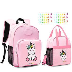 Дитячий рюкзак 2 в 1 Mommore Unicorn і сумка для сніданків Рожевий (FB0240012A012MM)
