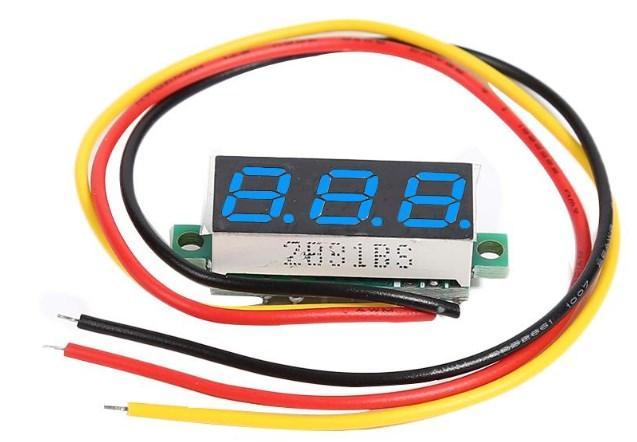 Цифровий вольтметр DC 0-100в (3 дроти)