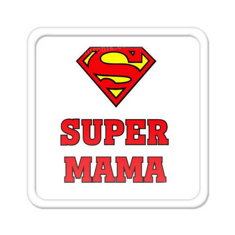 Магнит на холодильник Super мама, фото 2