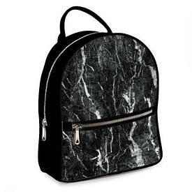 Рюкзак міський жіночий Чорний мармур