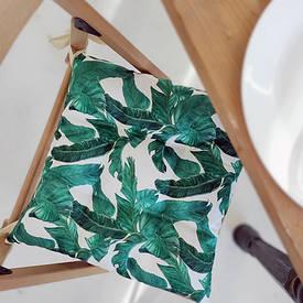 Подушка на стул с завязками Листья