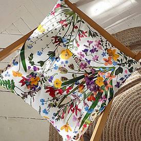 Подушка на стул с завязками Полевые цветы