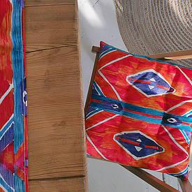 Подушка на стул с завязками Этно стиль