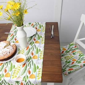 Подушка на стул с завязками Цветочное настроение