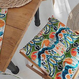 Подушка на стул с завязками Этно узор