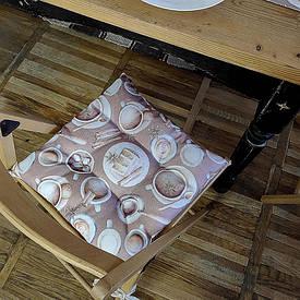 Подушка на стул с завязками Столовый сервис