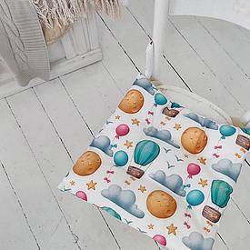 Подушка на стул с завязками Шары