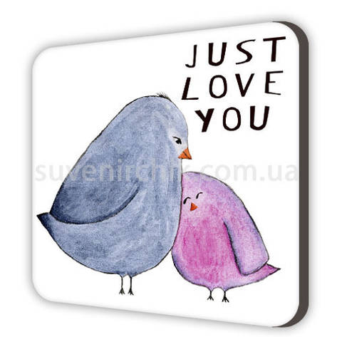 Магніт сувенірний Just love you, фото 2