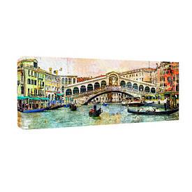 Картина на тканини, 30х65 см Венеція