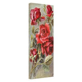 Картина на тканини, 30х65 см Roses
