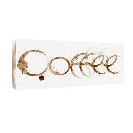 Картина на тканини, 30х65 см Coffee