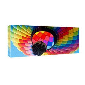 Картина на тканини, 30х65 см Яскравий повітряний кулю