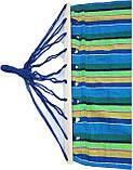 Гамак лежак мексиканський  200*100 см с планкой 80 см подвесной из натуральной ткани для дачи сада отдыха, фото 3