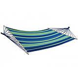 Гамак лежак мексиканський  200*100 см с планкой 80 см подвесной из натуральной ткани для дачи сада отдыха, фото 5