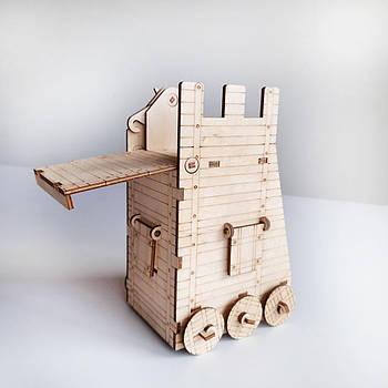 Игрушечная средневековая осадная башня для замков Maxi NestWood