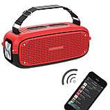 Портативна колонка Hopestar A21, стерео колонка Bluetooth c пило-вологозахистом, бездротова Червона, фото 2