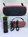 Портативна колонка Hopestar A21, стерео колонка Bluetooth c пило-вологозахистом, бездротова Червона, фото 3