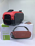 Портативна колонка Hopestar A21, стерео колонка Bluetooth c пило-вологозахистом, бездротова Червона, фото 4