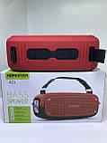 Портативна колонка Hopestar A21, стерео колонка Bluetooth c пило-вологозахистом, бездротова Червона, фото 5
