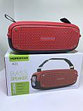 Портативна колонка Hopestar A21, стерео колонка Bluetooth c пило-вологозахистом, бездротова Червона, фото 6