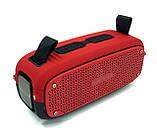 Портативна колонка Hopestar A21, стерео колонка Bluetooth c пило-вологозахистом, бездротова Червона, фото 9