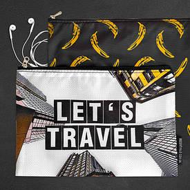 Комплект косметичек Double (2 шт) Let`s travel & Banana