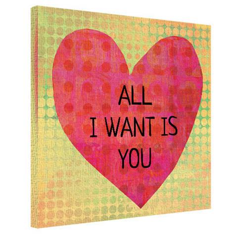 Картина на ткани, 50х50 см All I want is you, фото 2