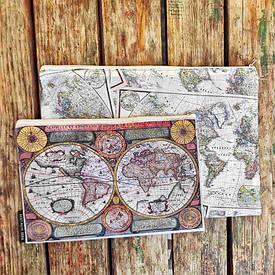 Комплект косметичек Double (2 шт) Карта