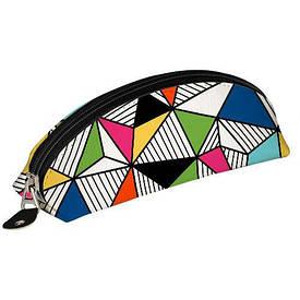 Пенал-косметичка Разноцветные треугольники