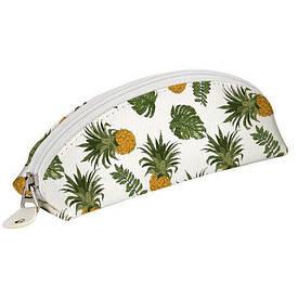 Пенал-косметичка Ананасы и листья пальмы