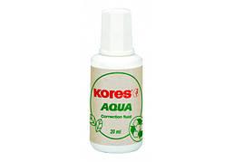 Корректор-жидкость Kores AQUA, водная основа 20мл K69101