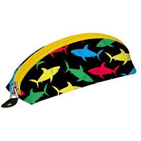Пенал-косметичка Разноцветные акулы