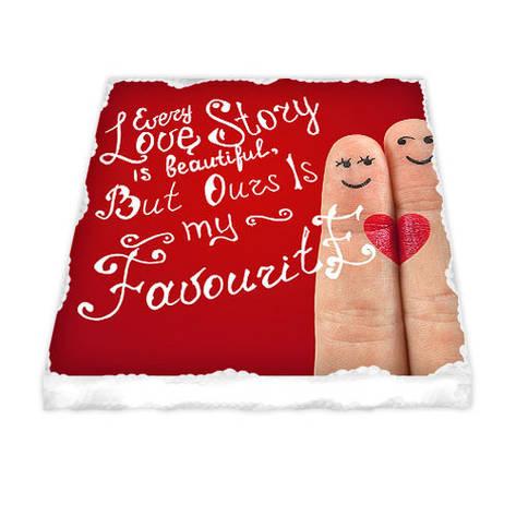 Керамічний магніт Every love story is beautiful, but ours is favourite, фото 2