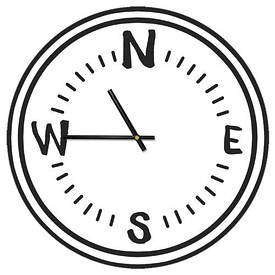 Часы настенные круглые, 36 см Компас