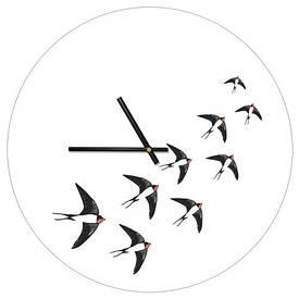 Часы настенные круглые, 36 см Птицы