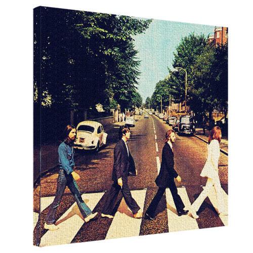 Картина на ткани, 50х50 см Beatles на пешеходном переходе