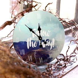 Часы настенные круглые, 36 см Follow the way!